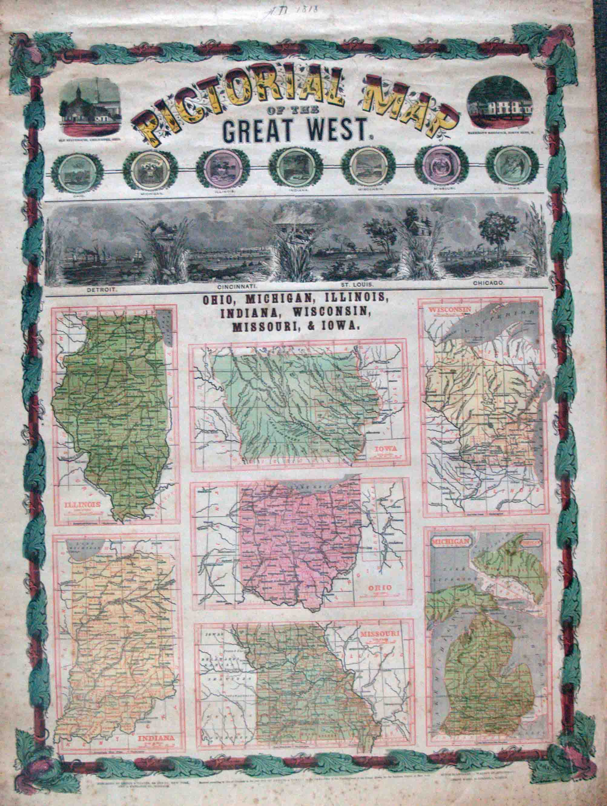 Pictorial Map of the Great West. Ohio, Michigan, Illinois ... on map of illinois cities, map of west virginia and tennessee, map of iowa freedom rock in the tour, map of iowa small towns, iowa state map illinois, map of bridges of madison county iowa, map of iowa online, map of quad cities and surrounding area, map of dubuque iowa, map of church camps in illinois, big map of illinois, map of iowa casinos, street map clinton illinois, map of quincy illinois, map of iowa print, map of missouri, map of the state of iowa, oakland city hall illinois, map of minnesota iowa border, map of iowa counties,