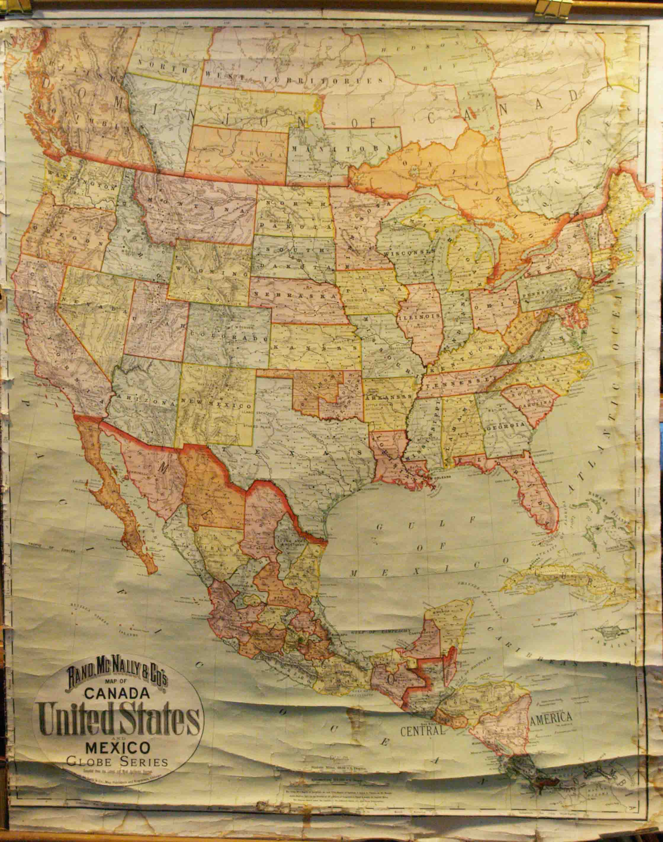 Map Of Canada On Globe.Rand Mcnally S Map Of Canada United States And Mexico Globe Series