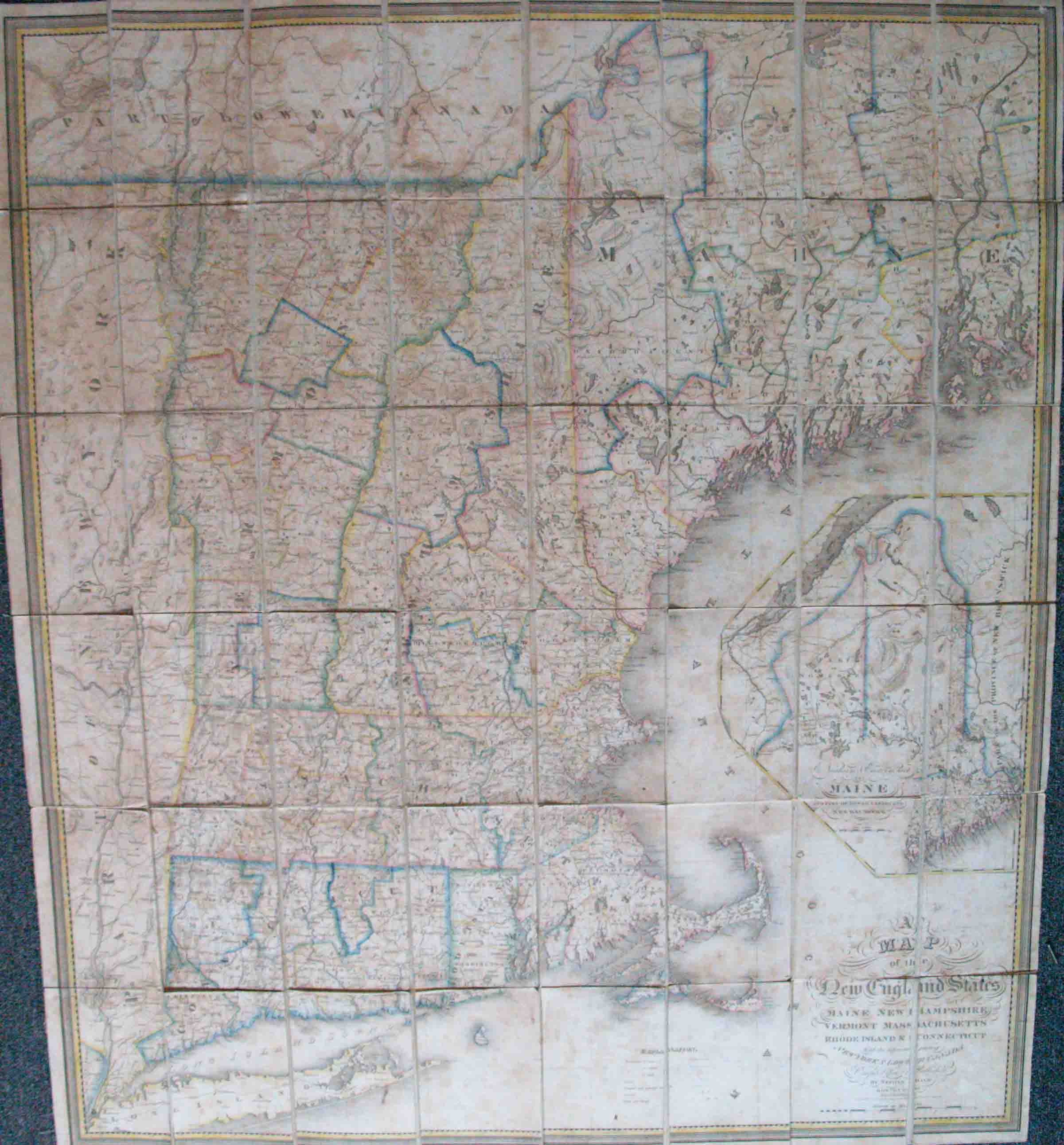 Map Of The New England States Maine New Hampshire Vermont Mass High Ridge Books Inc