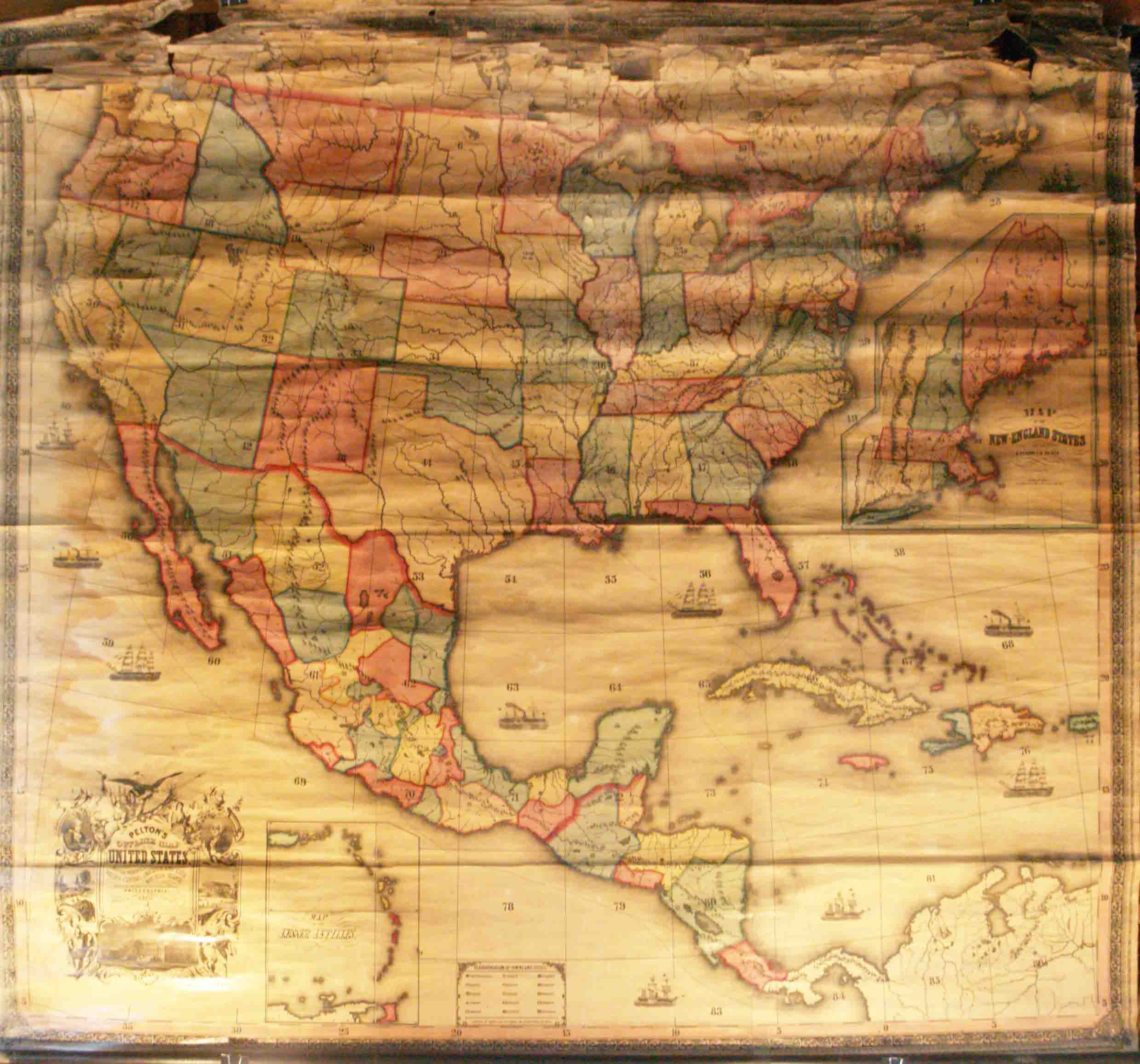 Pelton\'s Outline Map of the United States, British Provinces ...